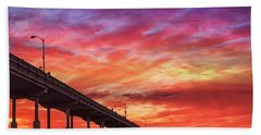 Beach Sunset Ocean Wall Art San Diego Artwork Bath Towel