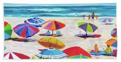 Umbrellas 2 Hand Towel by Anne Marie Brown