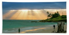 Beach Walk At Sunrise Hand Towel