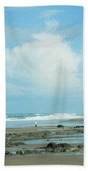 Hand Towel featuring the photograph Beach Walk by Mary Jo Allen