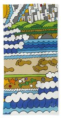 Beach Walk Foot Prints Bath Towel