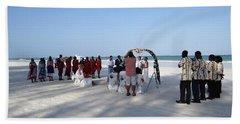 Beach Wedding In Kenya Hand Towel