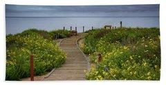Beach Wildflowers Bath Towel