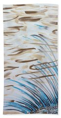 Hand Towel featuring the painting Beach Winds by Steven Macanka