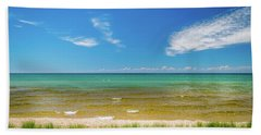 Beach With Blue Skies And Cloud Bath Towel