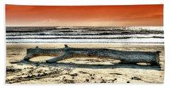Beach With Wood Trunk - Spiaggia Con Tronco IIi Bath Towel