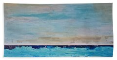 Bath Towel featuring the painting Beach1 by Diana Bursztein