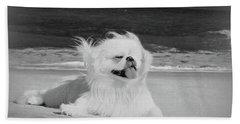 Beachbum Black And White Bath Towel