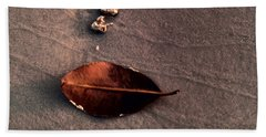 Beached Leaf Bath Towel by Brent L Ander