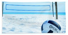 Volleyball On The Beach Hand Towel