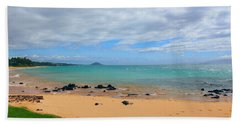 Hand Towel featuring the photograph Beaches Of Hawaii by Michael Rucker