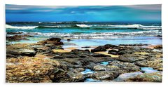 Bath Towel featuring the photograph Beachscape At Hungry Head  by Wallaroo Images