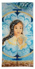 Flying Lamb Productions.        Beads Of Life Bath Towel