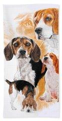 Beagle W/ghost Bath Towel by Barbara Keith
