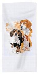Beagle Hound Medley Hand Towel