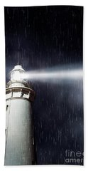 Beaming Lighthouse Hand Towel