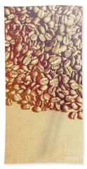 Bean Background With Coffee Space Bath Towel