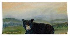 Bear Alone On Blue Ridge Mountain Hand Towel by Jan Dappen