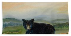 Bear Alone On Blue Ridge Mountain Bath Towel
