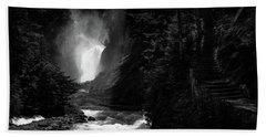 Bear Creek Falls In Spring Hand Towel