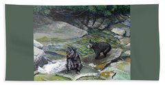 Bear Creek Hand Towel by Jeanette Jarmon