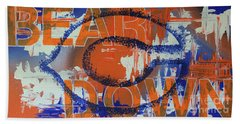 Bath Towel featuring the painting Bear Down by Melissa Goodrich