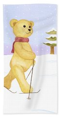Bear Bath Towel by Elizabeth Lock