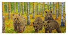 Bear Family Bath Towel