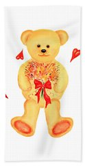 Bear In Love Bath Towel by Elizabeth Lock