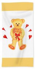 Bear In Love Hand Towel