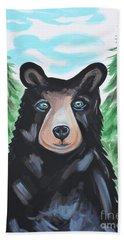 Bear In The Woods Bath Towel