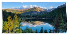Bear Lake Reflection Bath Towel by Ronda Kimbrow