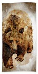 Bear Market Hand Towel by Daniel Hagerman