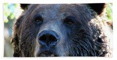 Bear On Grouse Bath Towel