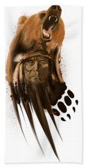 Bear Spirit  Hand Towel