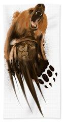 Bear Spirit  Bath Towel by Sassan Filsoof