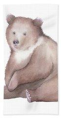 Bath Towel featuring the painting Bear Watercolor by Taylan Apukovska