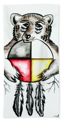 Bear With Medicine Wheel Hand Towel