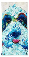 Bearded Collie Art - Dog Portrait By Sharon Cummings Hand Towel