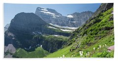 Beargrass - Grinnell Glacier Trail - Glacier National Park Hand Towel