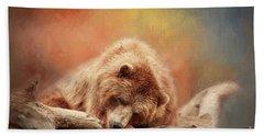 Bearly Asleep Hand Towel