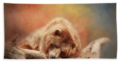 Bearly Asleep Bath Towel