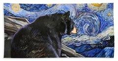 Beary Starry Nights Bath Towel by J W Baker