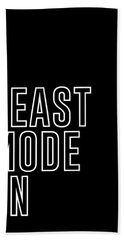 Beast Mode On - Gym Quotes - Minimalist Print - Typography - Quote Poster Bath Towel