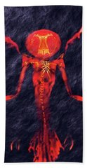 Beast Of Hell By Sarah Kirk Hand Towel