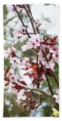 Beautiful Almond Blossoms Hand Towel