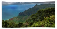 Beautiful And Illusive Kalalau Valley Hand Towel