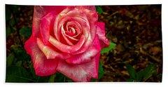 Beautiful Bicolor Rose Bath Towel