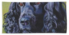 Hand Towel featuring the painting Beautiful Black English Cocker Spaniel by Lee Ann Shepard