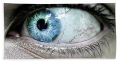 Beautiful Blue Eye Bath Towel